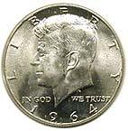 ケネディ銀貨1964