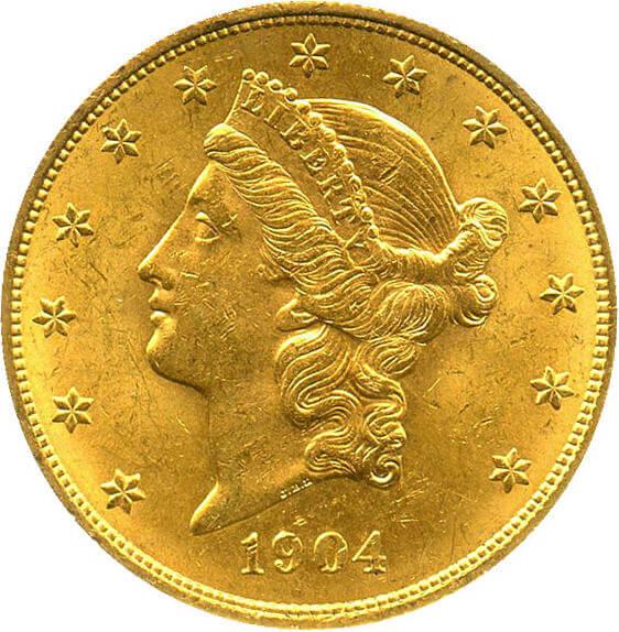 リバティ20ドル金貨